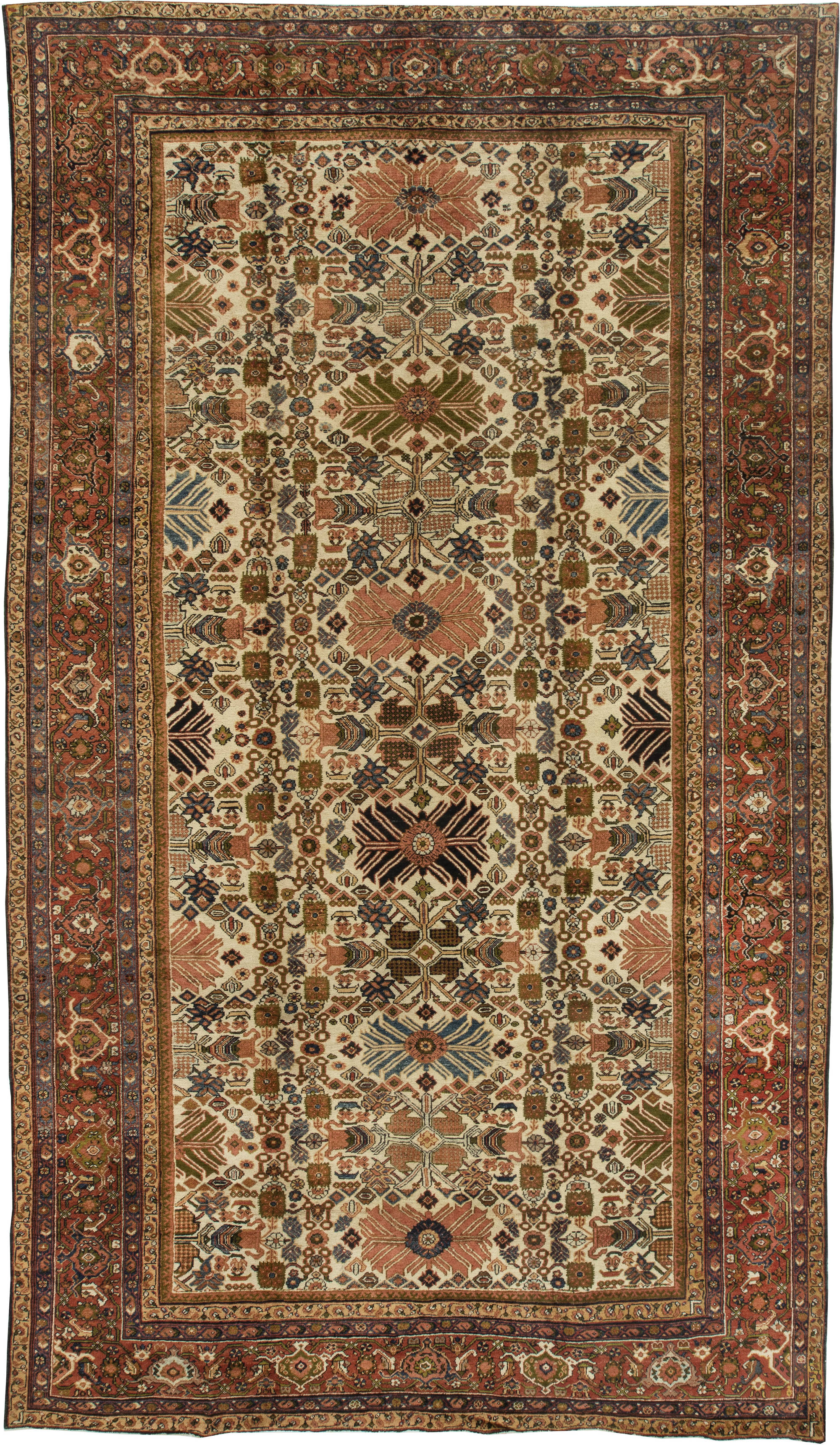 Sultanabad Rugs Allover Rugs by DLB New York