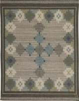 Vintage Rugs: Swedish Flat Weave Rug by Ulla Parkdahj