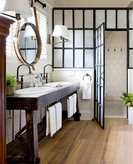 via - Modern Farmhouse Bathroom
