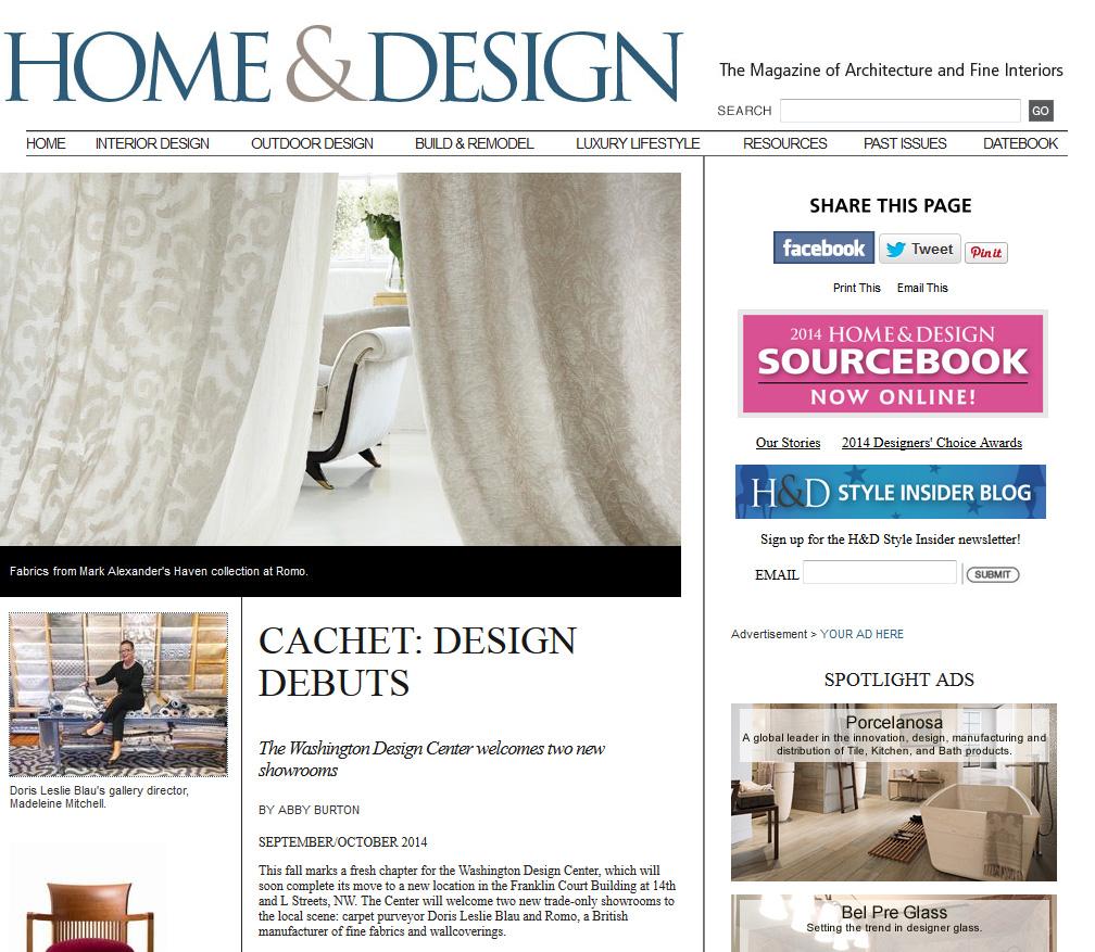 The Washington Design Center Welcomes Doris Leslie Blau By