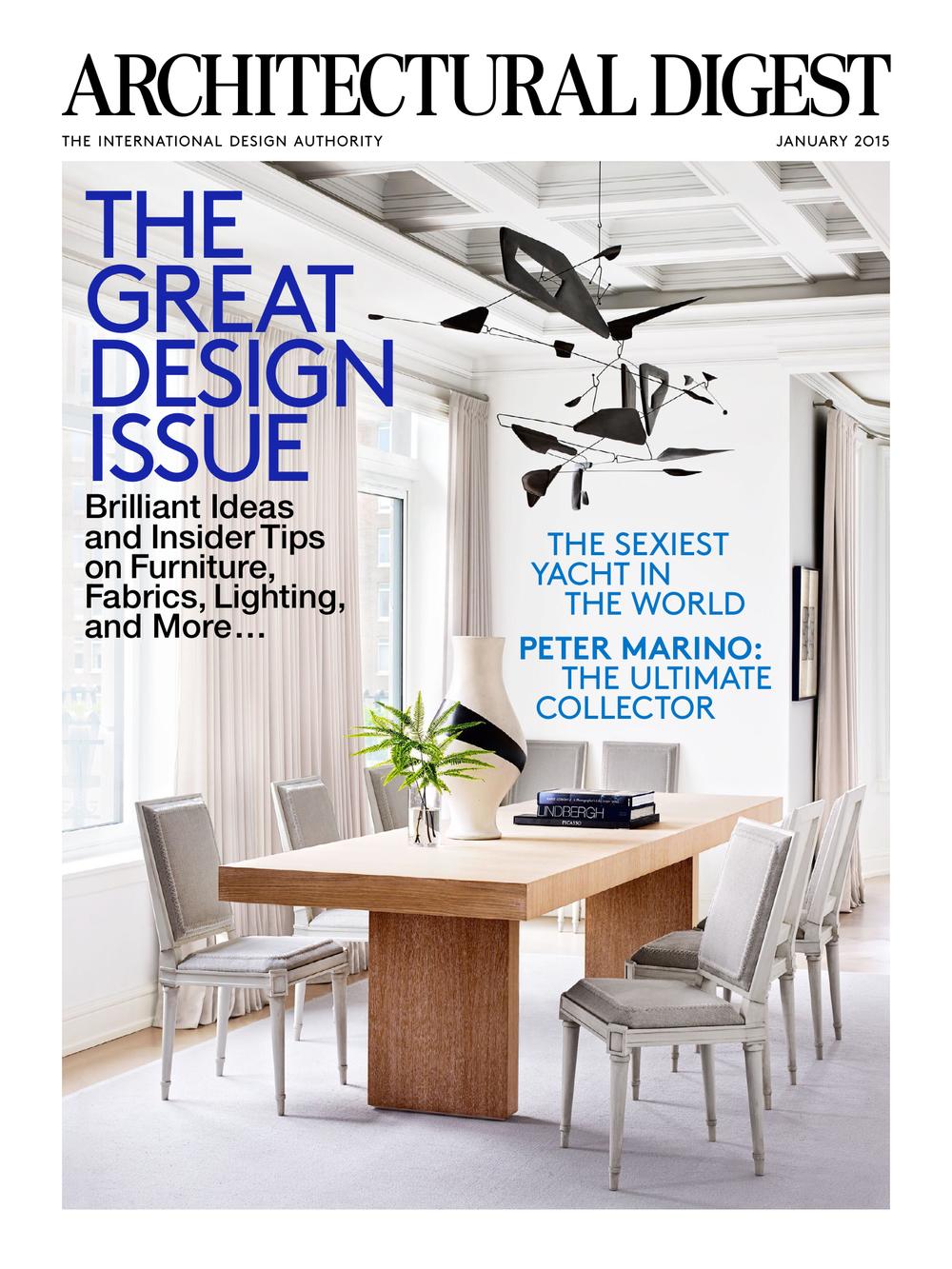 Architectural Digest, December 2014