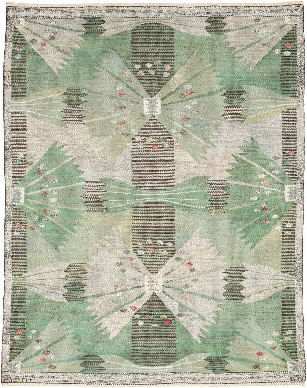 Vintage Swedish flatweave rug (The Park) BB5204