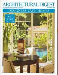 Architectural Digest, September 2009