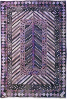 Marianne Richter, Granen flatweave carpet, 1949, Marta Maas-Fjetterstrom AB, hand-woven wool, 64 x 95 inches.