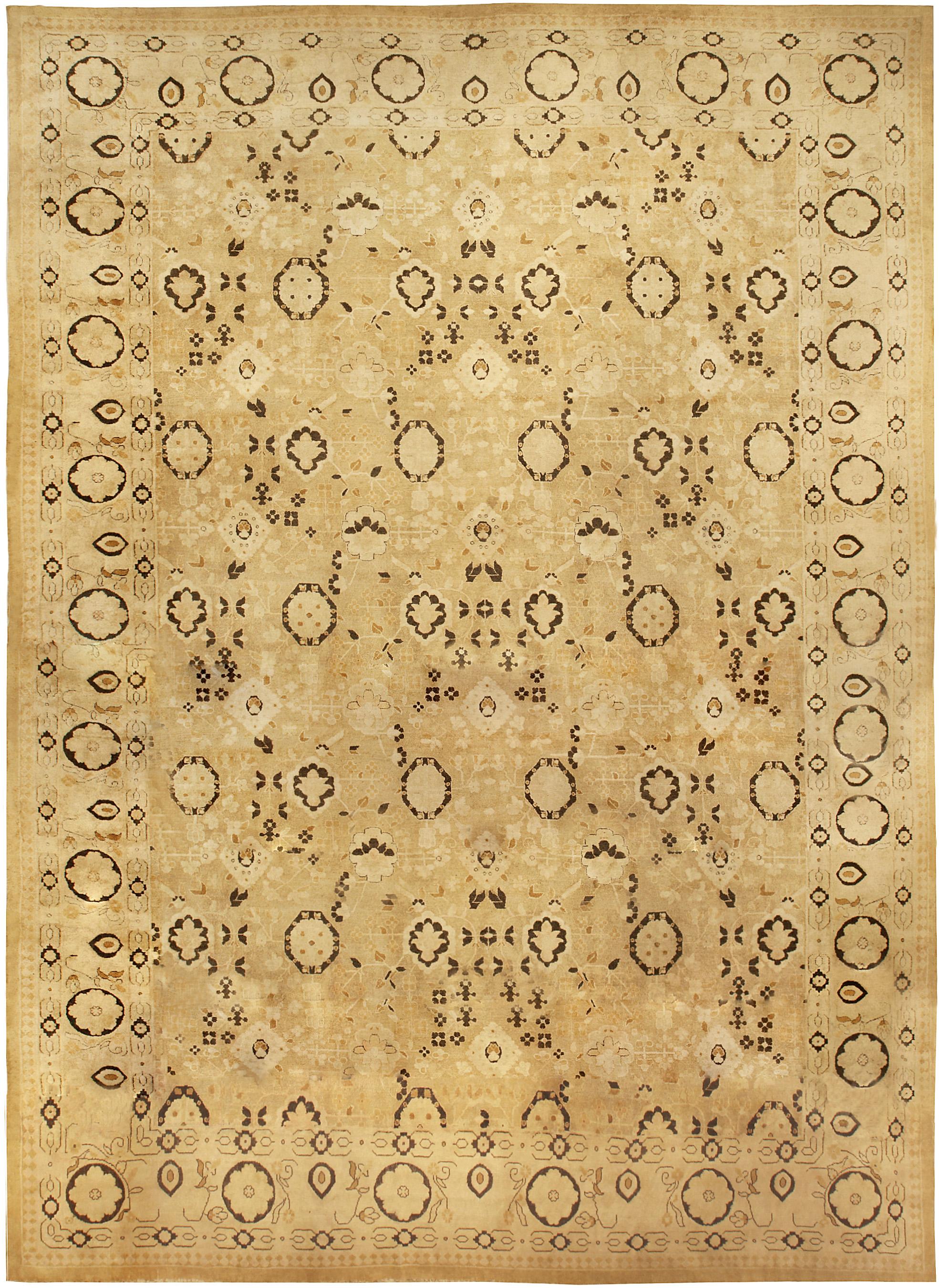 Antike indischen agra teppich übergroße antike indische agra teppich