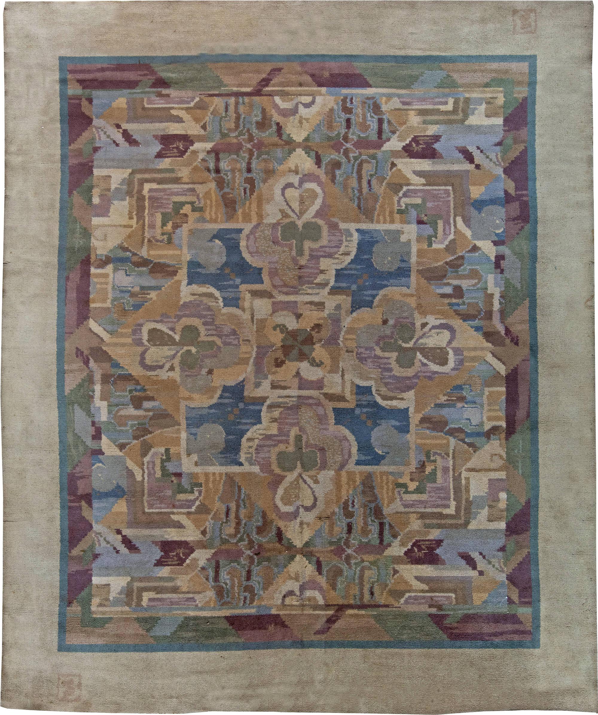 Vintage art deco teppich von frank brangwyn