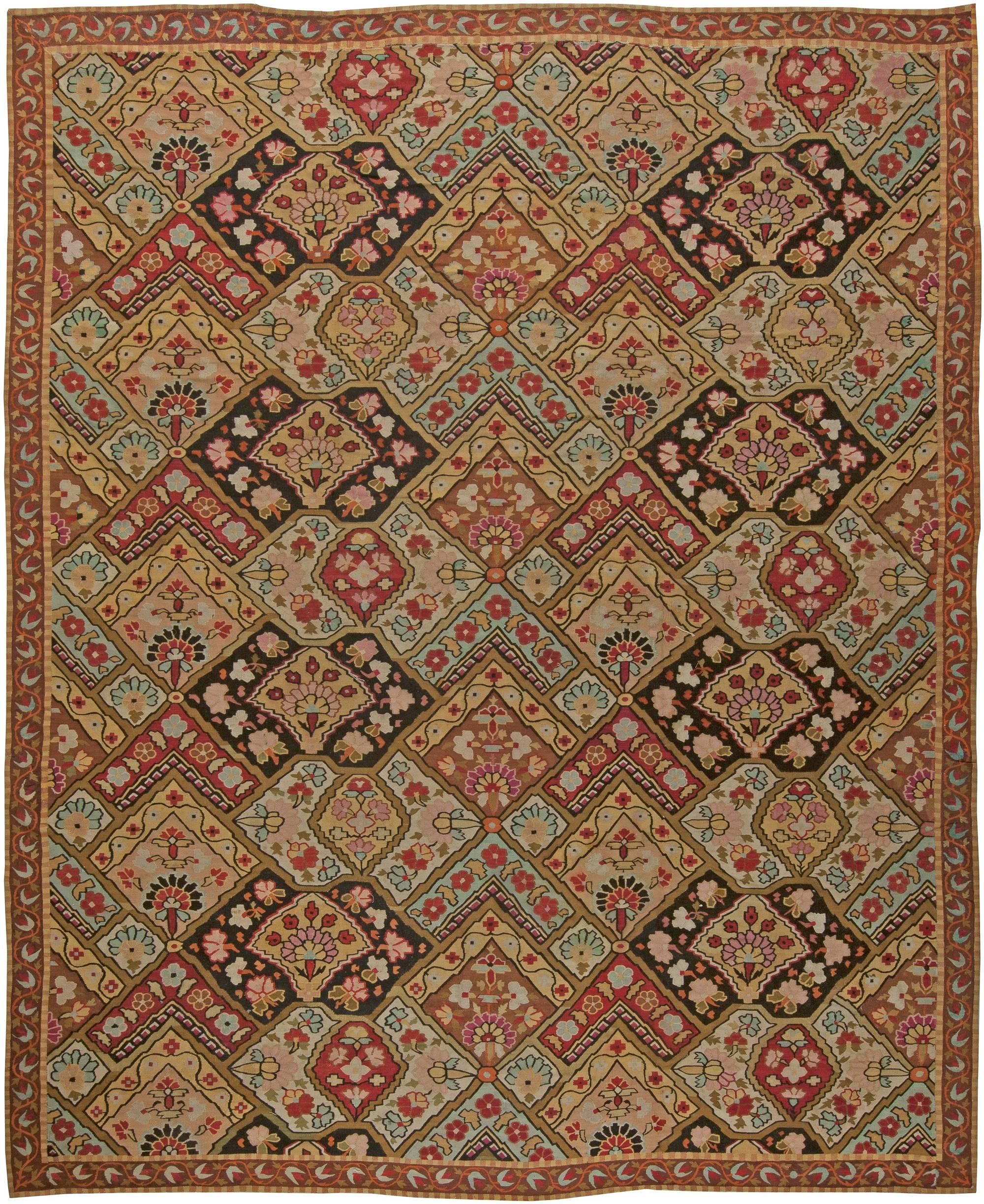 Antike französisch aubusson teppich