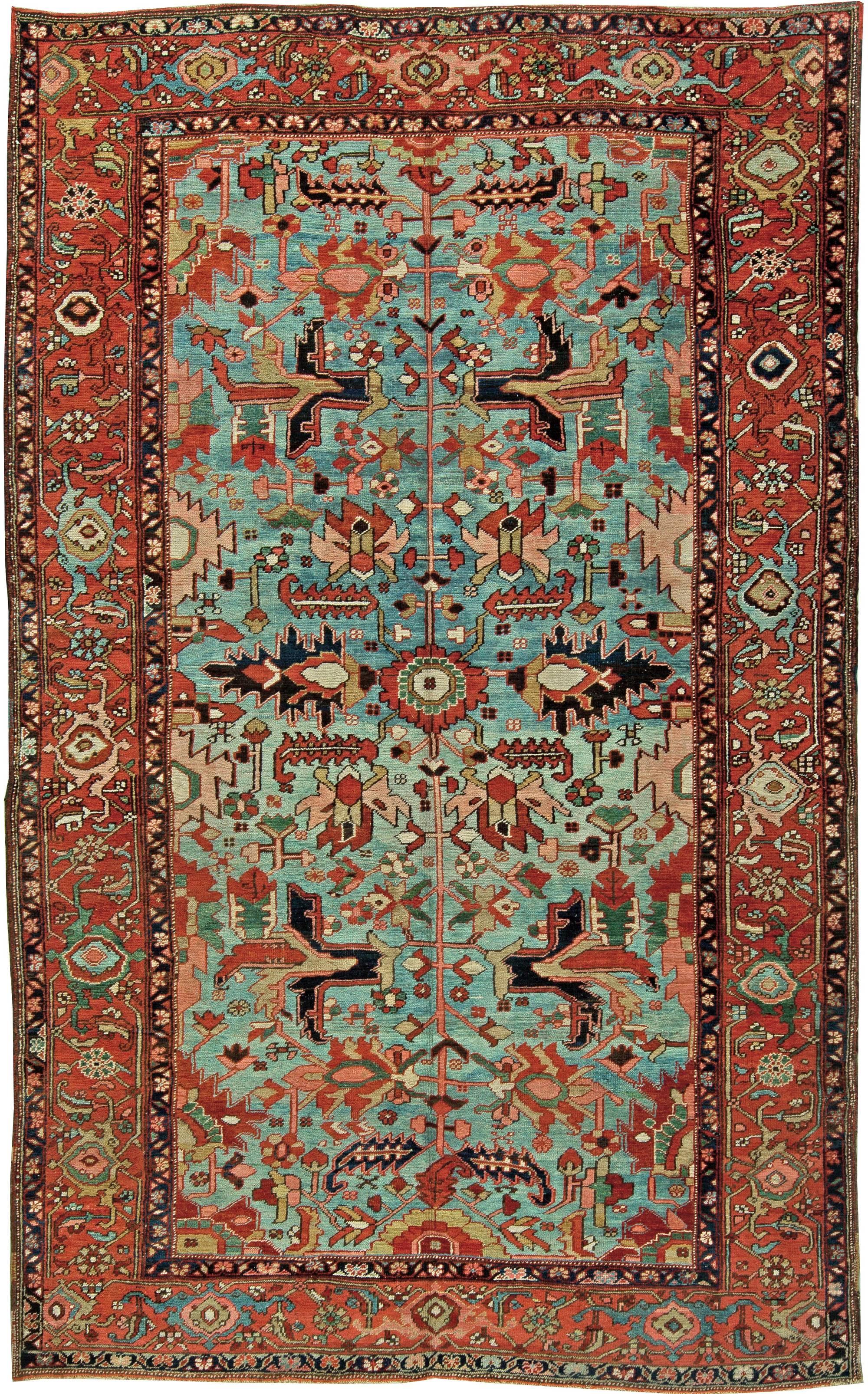Heriz Rugs Serapi Antique Persian Bakshaish Carpets
