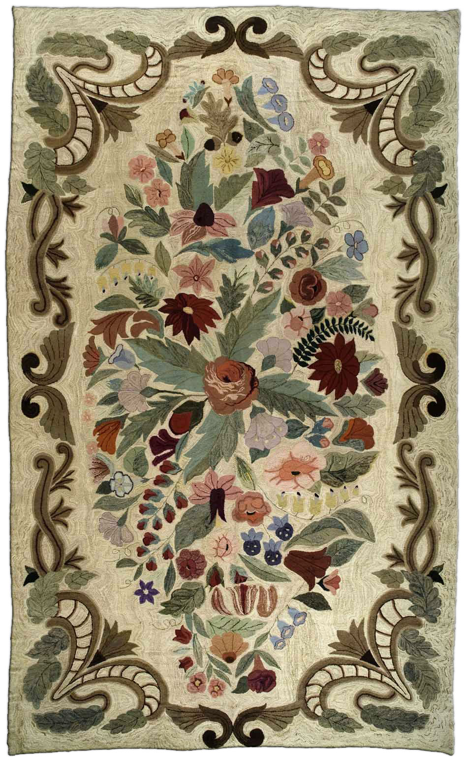 Hooked Rugs Rag Carpets For Sale Large Wool Floral Rug