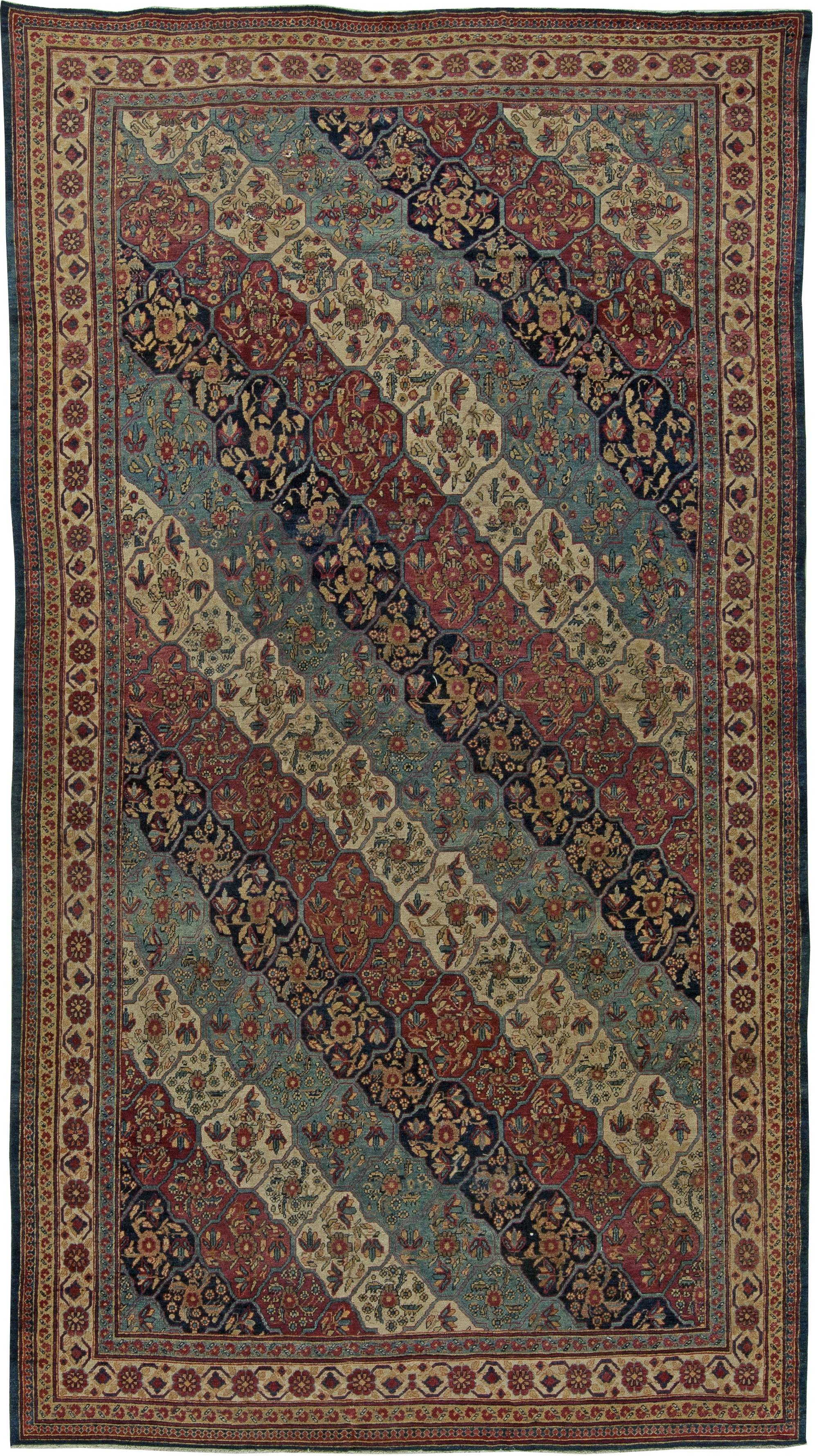 Persian Kirman Carpet Antique Rug