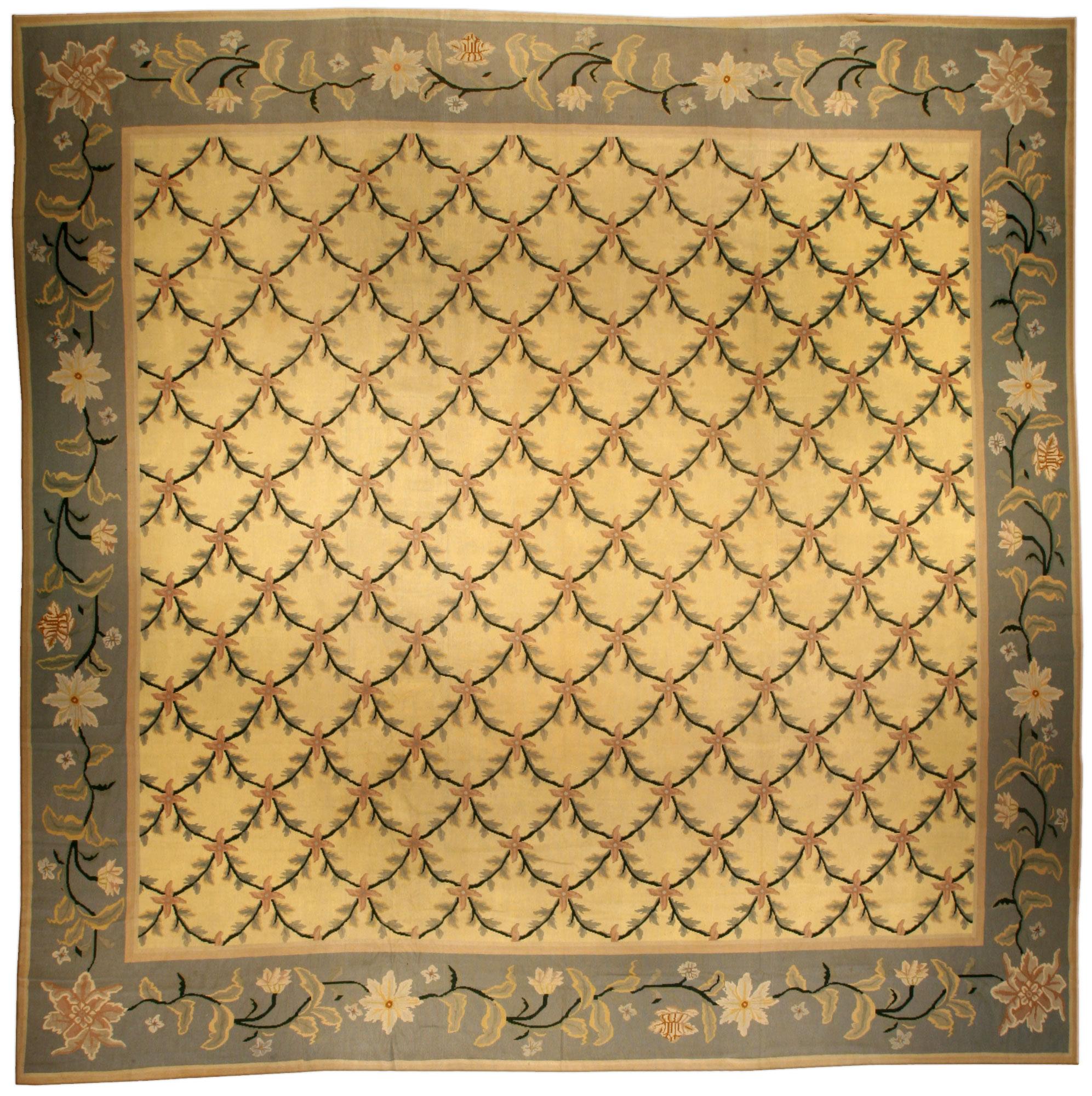 Antique Portuguese Needlepoint Carpet