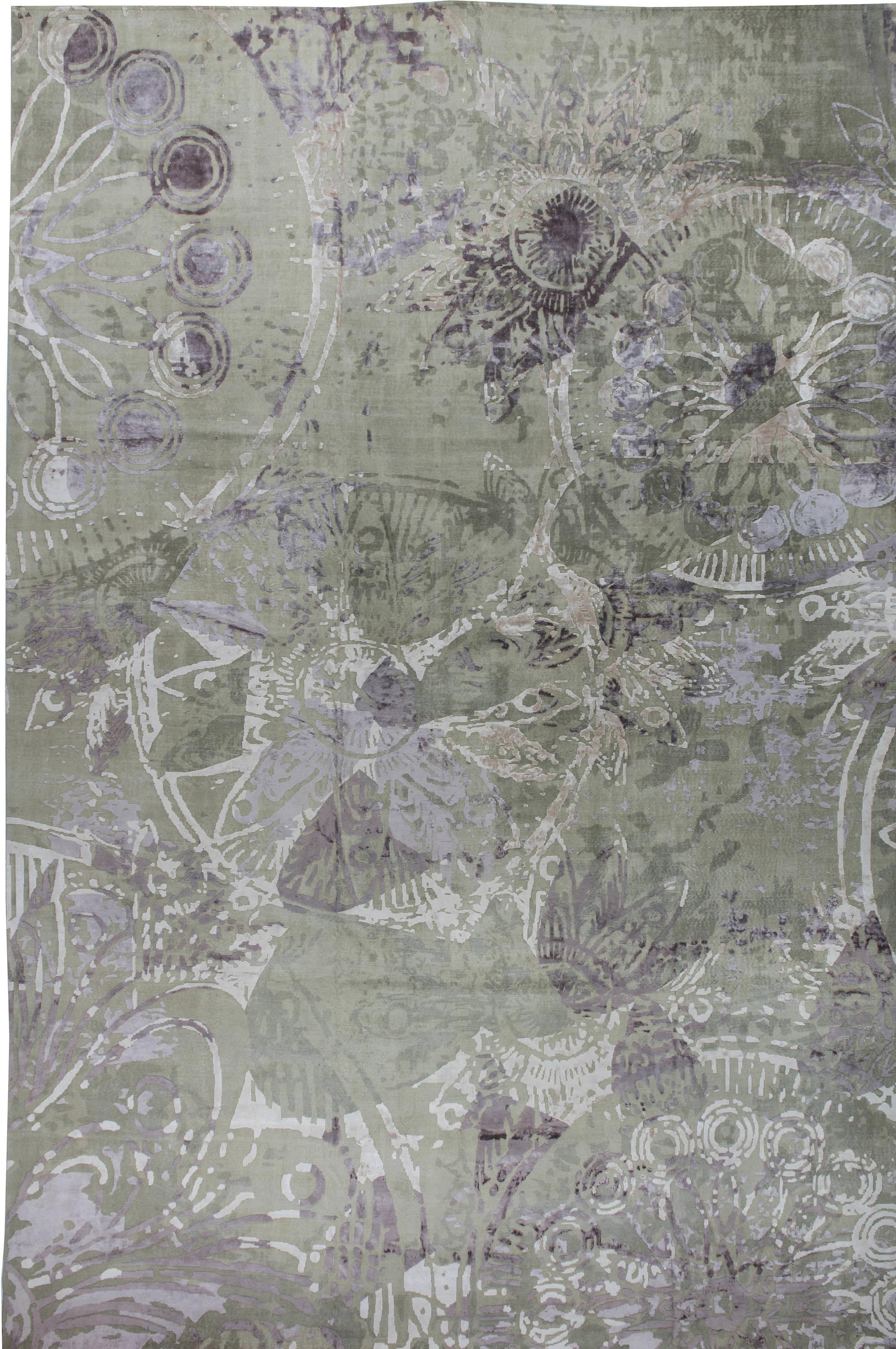 übergroße moderner teppich