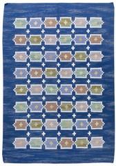 Swedish Vintage Blue Rug