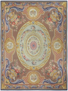 Antique-French Aubusson Rug