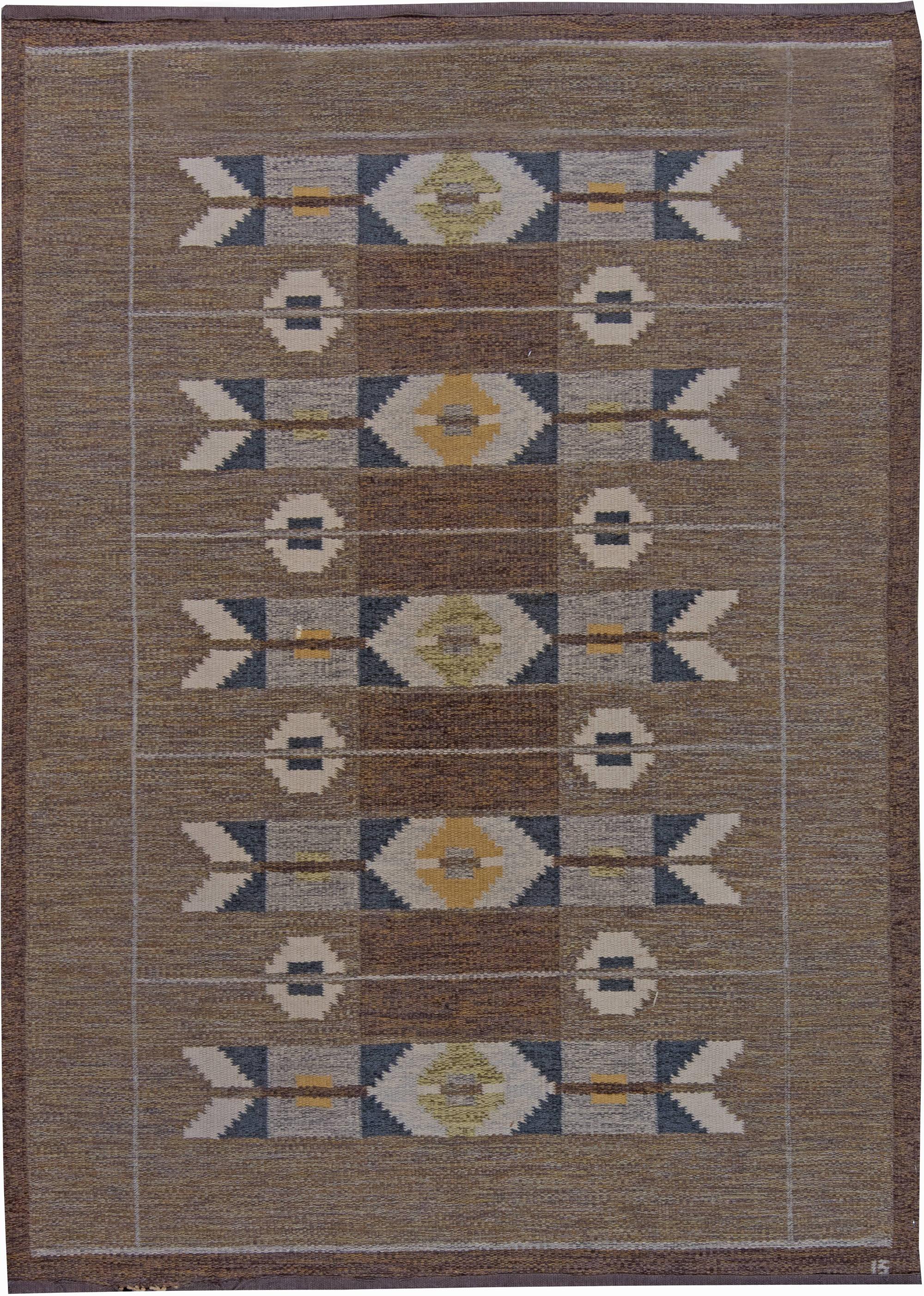 Weinlese schwedische flachgewebe teppich von ingegerd silow