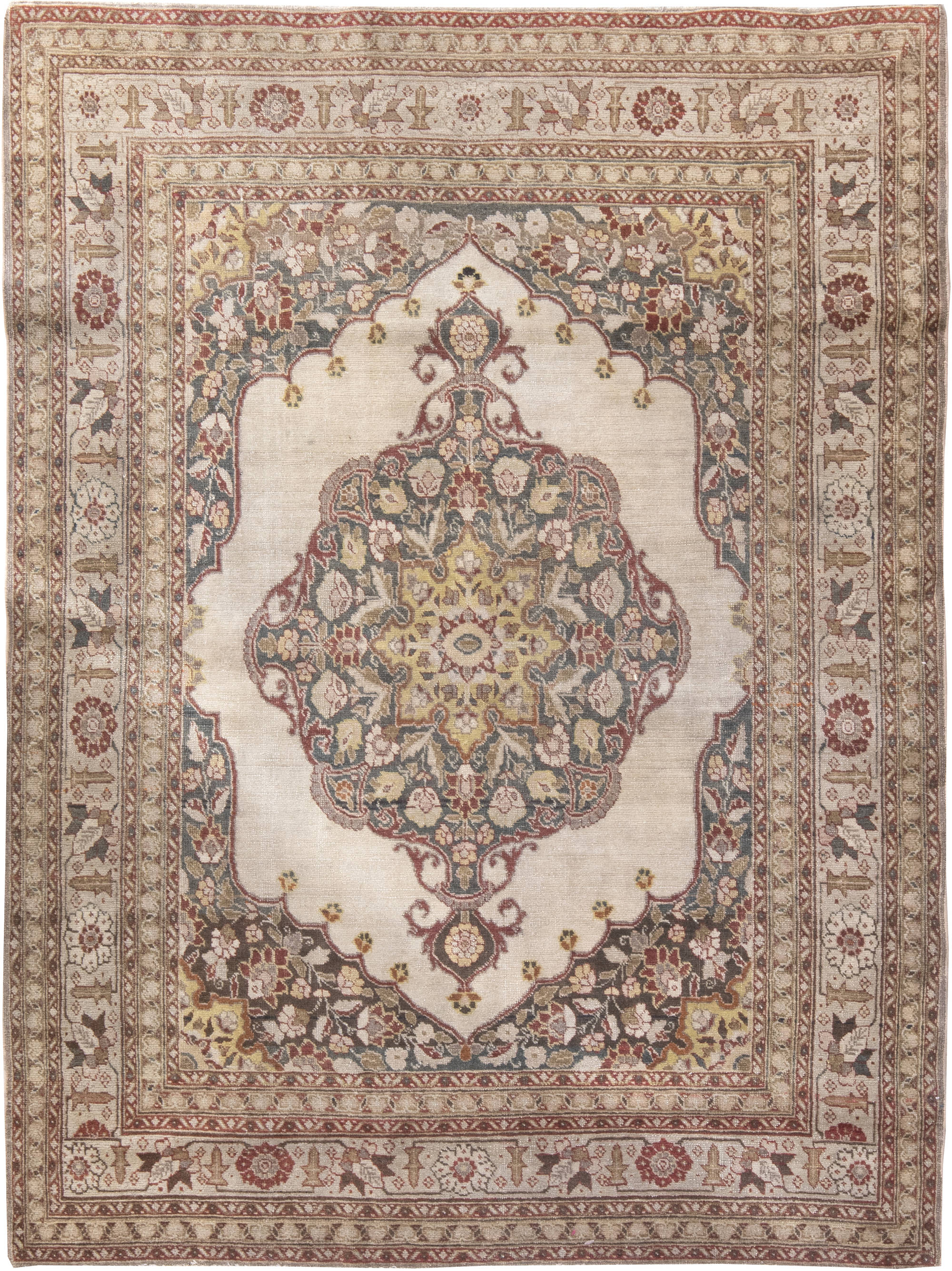rug rugs persian silk sale antique all yazd authentic oriental for handmade
