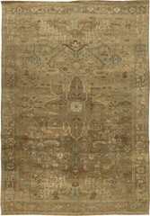 Antique Persian Heriz Rug with floral motif