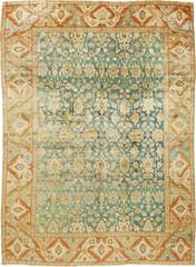 Tapete persa oriental antigo