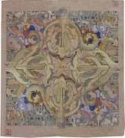Arts and Crafts Rug by Frank Brangwyn