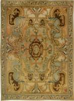 Traditional Savonnerie Inspired Hig/ Low Rug