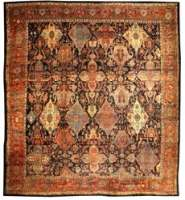 Oversized Antique Persian Bidjar Rug
