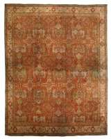 Oversized Antique English Axminster Carpet