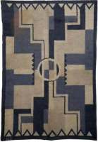 Vintage French Deco Rug by D.I.M.