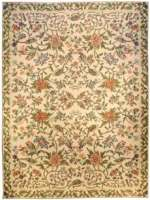 Large Antique Portuguese Needlepoint Rug