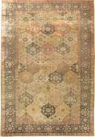 Antique Turco Silk Hereke Rug