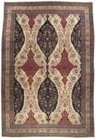 Oversized Antique Persian Kirman Rug