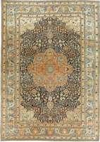 Antique Persian Mohtashem Kashan Rug