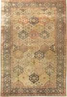 Antique Turkish Silk Hereke Rug