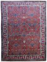 Antique Persian Teerã Rug