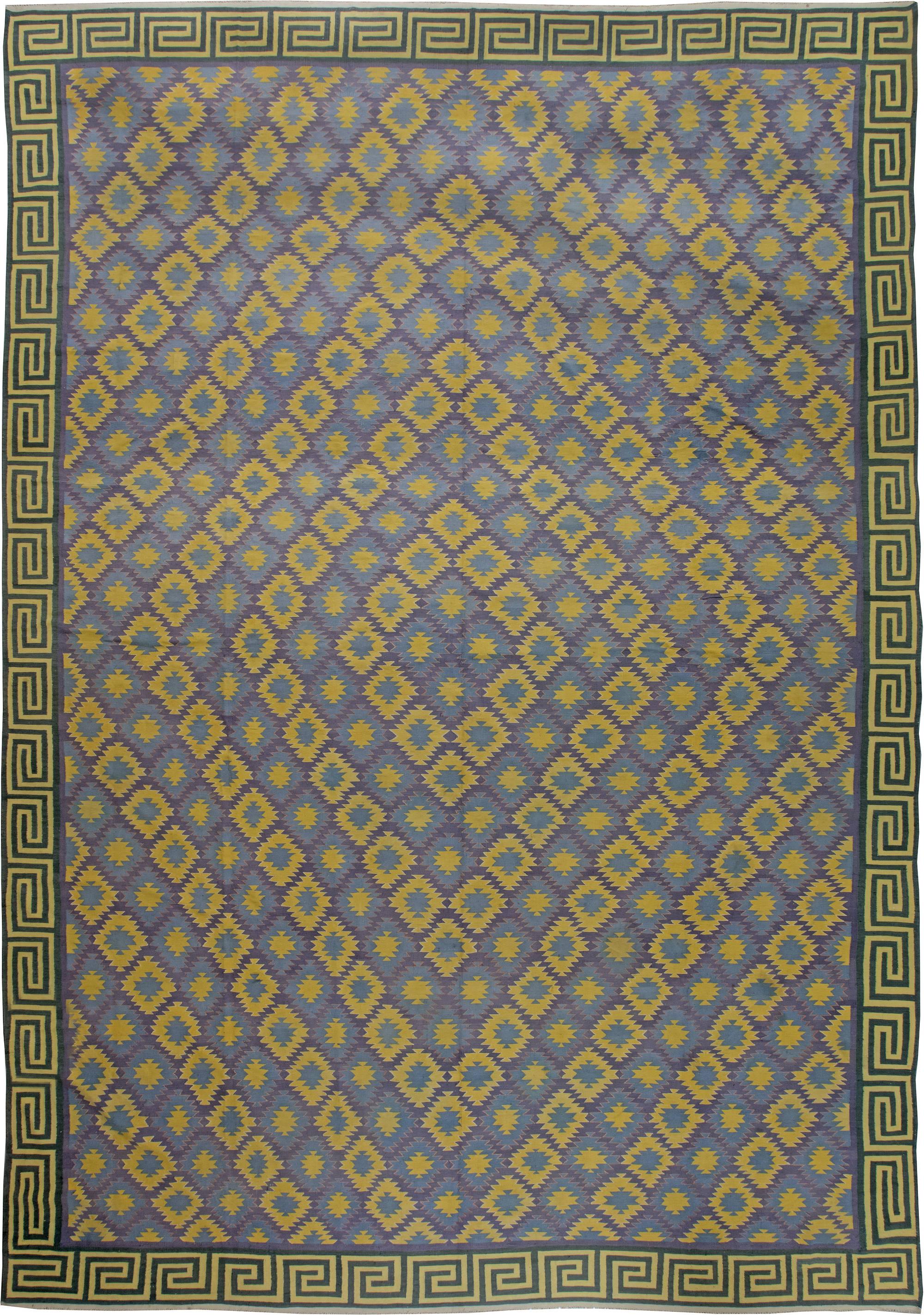 Indische Dhurrie Teppiche Zum Verkauf Extra Large Vintage