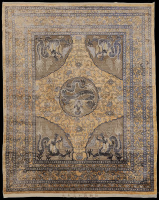 Lot 0102 - Thread Carpet, Chinese, circa 1900
