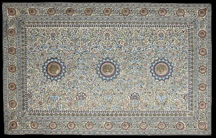 LOT 401 - THE PEARL CARPET OF BARODA, GUJARAT, INDIA, circa 1865
