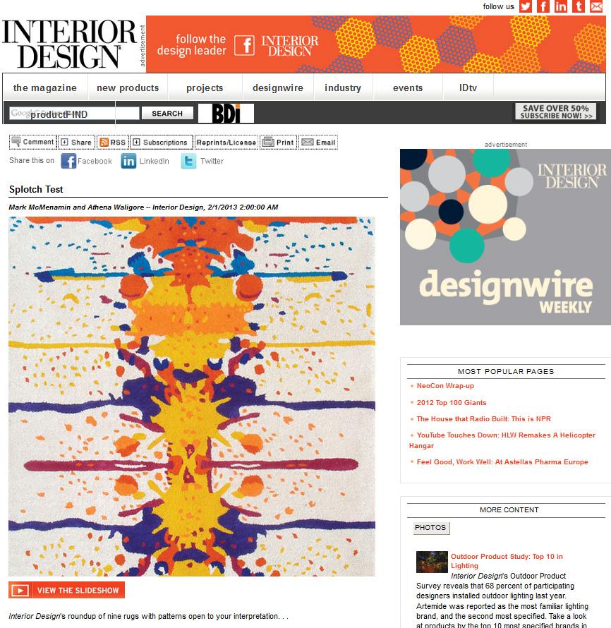 Interior Design, February 2013