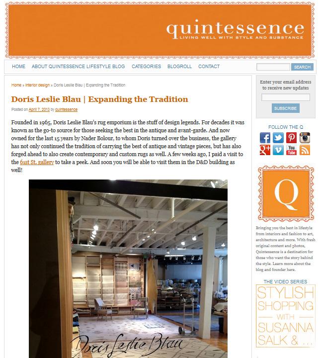 Quintessence, April  2013