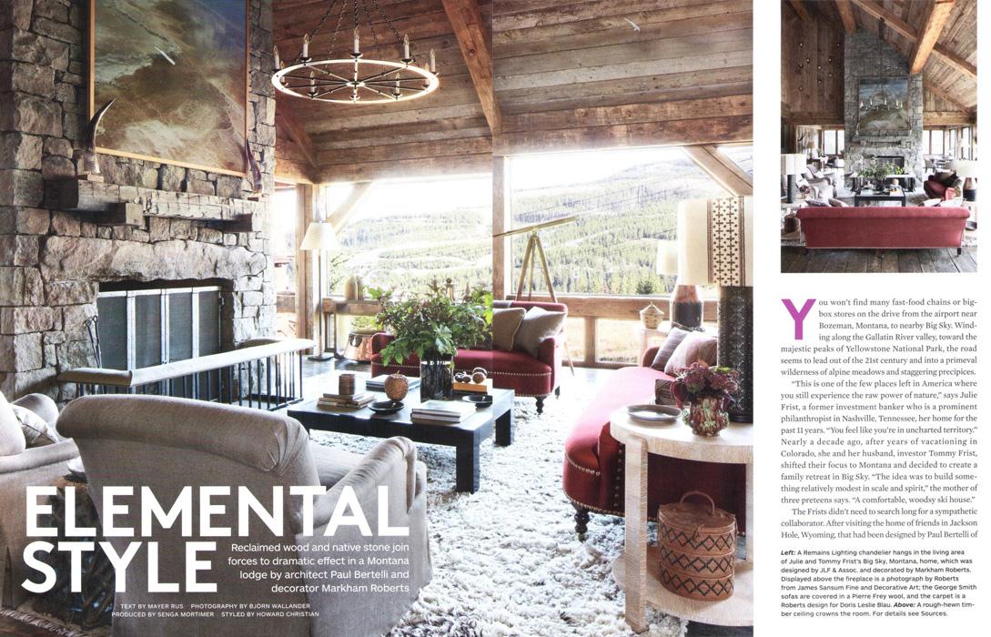 Architectural Digest, junio 2013