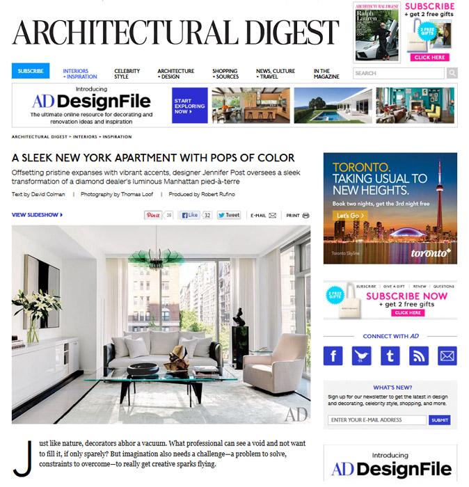 Architectural Digest, August 2013
