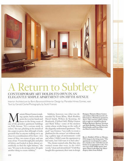 Architectural Digest, April 2006