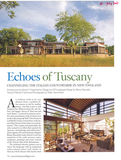 Architectural Digest, July 2007, p. 2