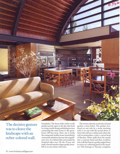 Architectural Digest, July 2007, p. 3