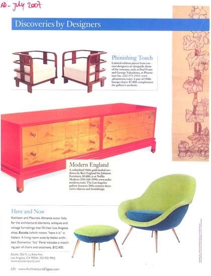 Architectural Digest, July 2007, p. 4