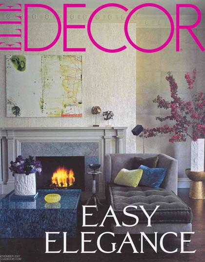 Elle Decor, November 2007