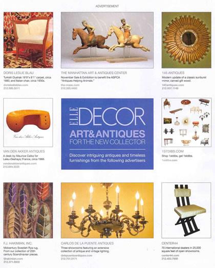Elle Decor, noviembre de 2007, p. 3