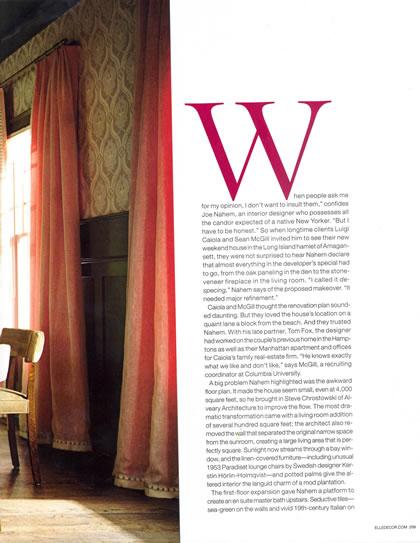 Elle Decor, November 2008, p. 5