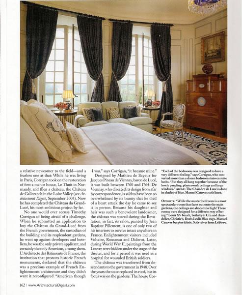 Architectural Digest, September 2009, p. 8