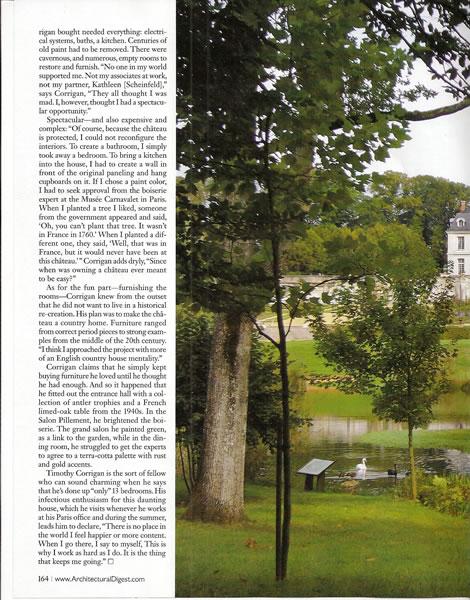 Architectural Digest, September 2009
