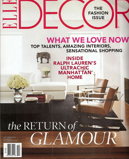 Elle Decor, October 2010